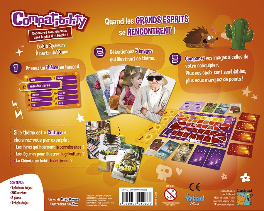 Compatibility jeu plateau