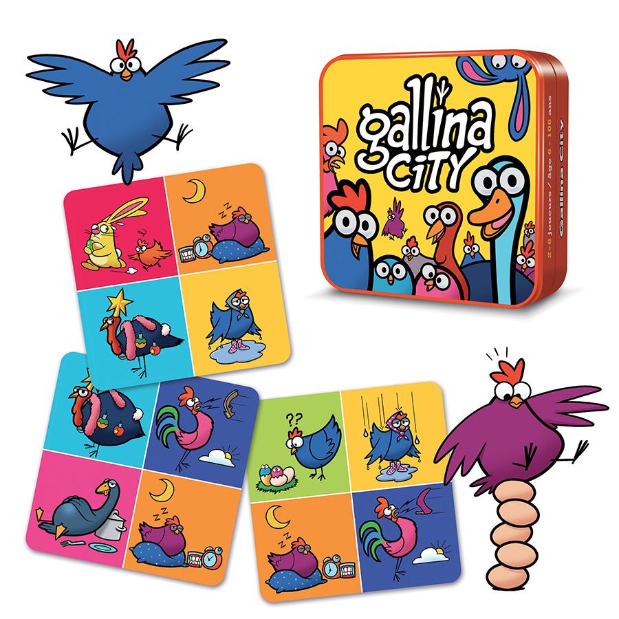 Gallina city jeu communication