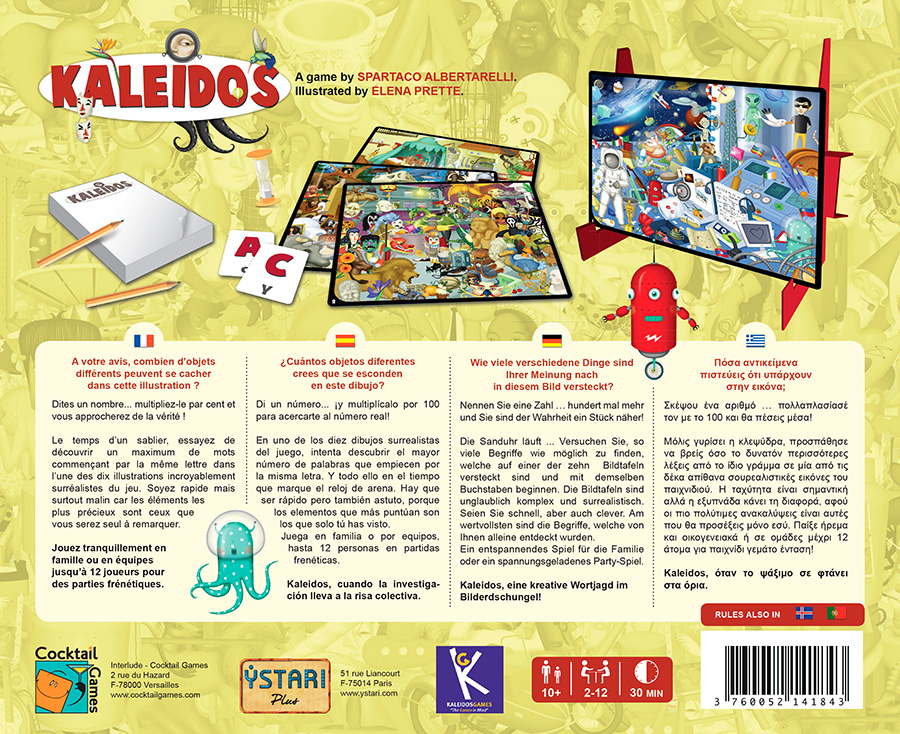 Kaleidos jeu simple