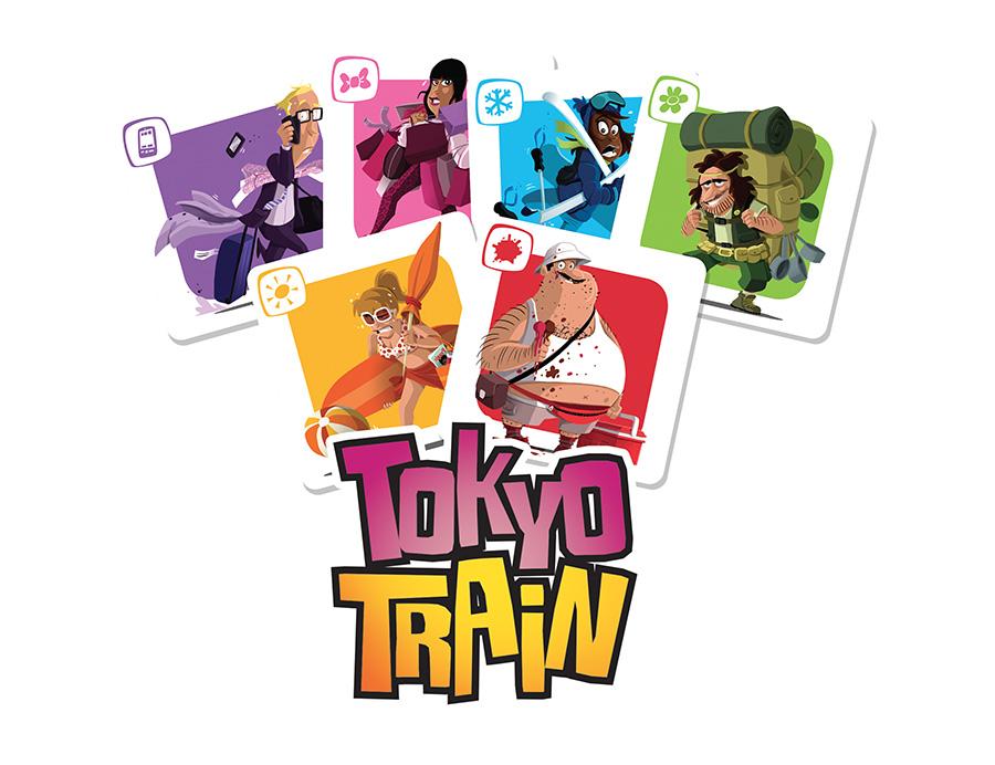 Tokyo train jeu entre amis