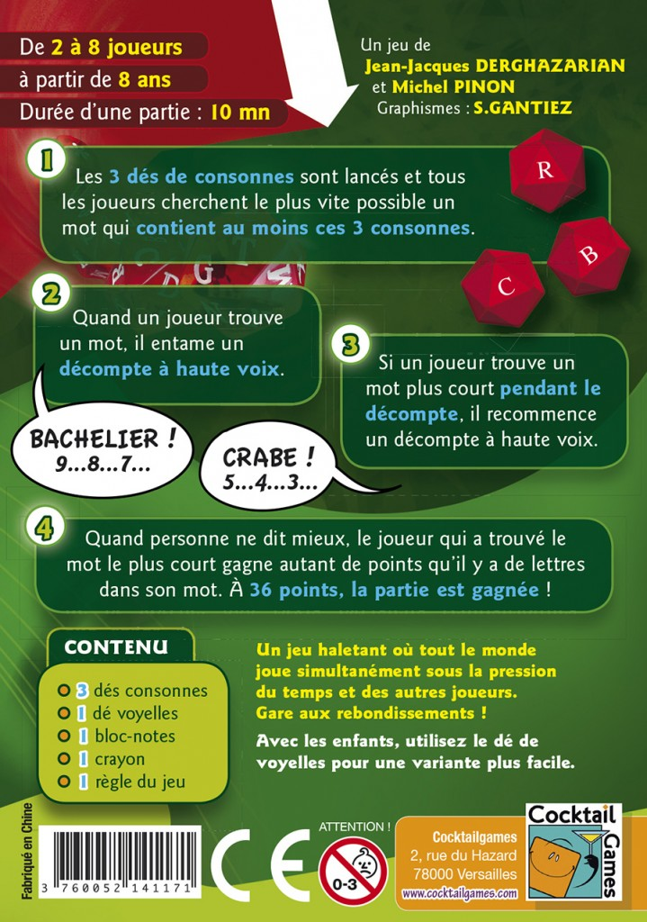 Le mot le plus court jeu simple