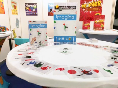 Le jeu IMAGINE sur le stand Cocktail Games à Nuremberg 2017