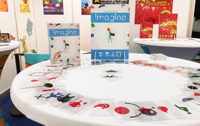 Le jeu IMAGINE sur le stand Cocktail Games à Nuremberg 2017