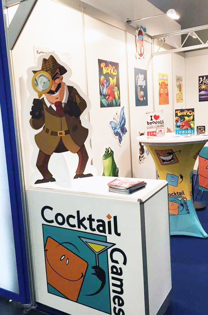L'inspecteur du jeu Profiler sur le stand Cocktail Games à Nuremberg 2017